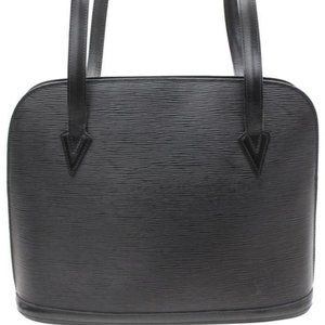 Louis Vuitton Black Epi Noir Lussac Large Zip Tote